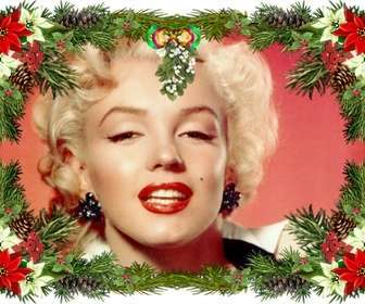 Moldura com enfeites de árvore de Natal que você pode usar como uma saudação de Natal.