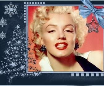 Cartão de Natal clássico, customizável com uma foto.
