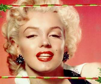 Editar uma imagem a partir desta página, com este modelo para fotomontagem constituída por uma parte discreta com o Natal, para uma fotografia de largura. Guirlandas e bares verde com listras vermelhas.