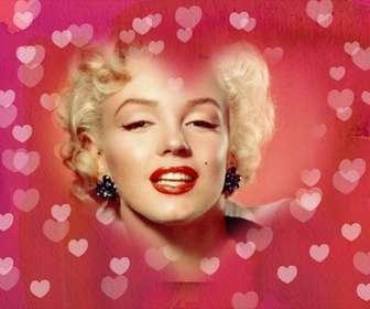 coracão moldura foto colocar sua foto fundo fundo rosa com muitos coracões ideal amantes