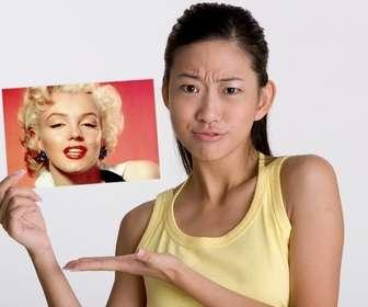 Fotomontagem, onde esta menina foi perguntado sobre quem na foto?