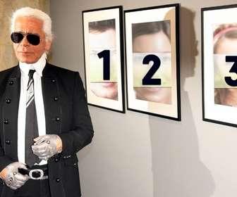 Foto efeito, juntamente com Karl Lagerfeld. Coloque sua foto nas fotos.