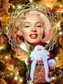 coloque sua foto em uma arvore natal com o papai noel