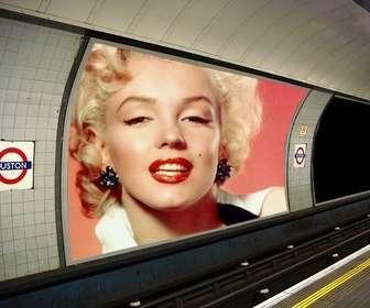 Fotomontagem para colocar as duas fotos que você deseja em poucos anúncios no metrô.
