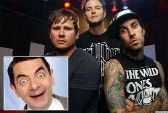 Efeito da foto para editar de Blink 182 banda e você pode imprimi-lo