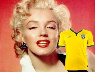 Etiqueta com o Brasil camisa para colocar no seu quadro.