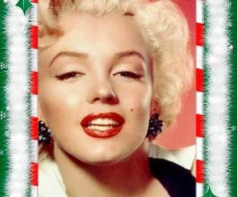 Moldura com as decorações de Natal, parabéns especiais por e-mail.