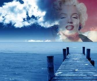 Fotomontagem para criar colagens com sua imagem e fundo do céu.