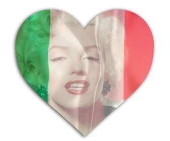 efeito da foto do coracão da bandeira italiana em forma colocar sua foto efeito