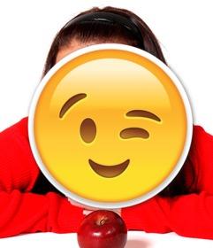 Wink Emoji para inserir em suas fotos