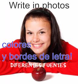 Escrever em fotos online. Adicionar texto em fotos.