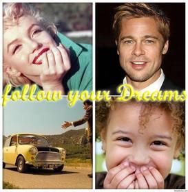 Colagem De Fotos Com A Frase Seguir Seus Sonhos Para Fazer O
