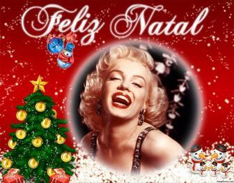 cartão desejar um feliz natal personalizado com uma foto on-line efeito da foto editavel
