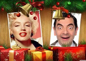 adicione duas fotos colagem natal com presentes