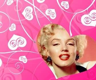 fotomontagem amor decorar suas fotos romanticas com um fundo coracões brancos chão-de-rosa criando um efeito do amor
