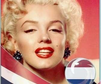 Fotomontagem com a bandeira dos Países Baixos para colocar suas fotos.