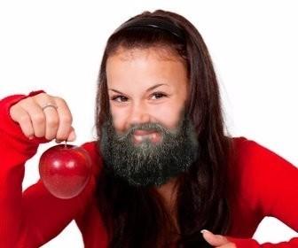 Fotomontagem para colocar uma barba em sua foto.