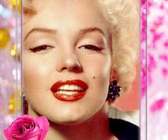 Moldura com uma rosa, cercado por belas pérolas e diamantes.