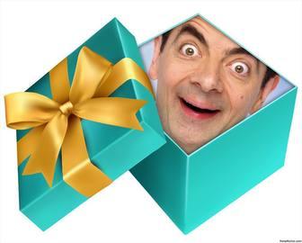 Coloque sua foto dentro de um presente aberto com este conjunto on-line