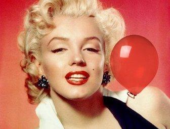 etiqueta um balão vermelho brilhante