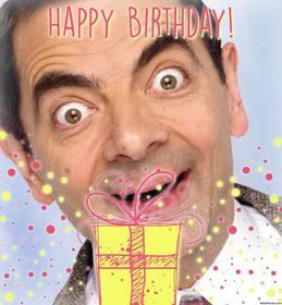 fotomontagem ilustrativa para celebrar um feliz aniversário com um presente decorativo