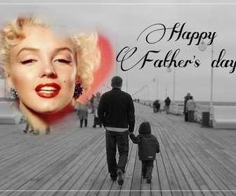 Cartão postal de felicitar o Dia dos Pais.