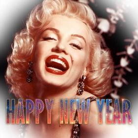 efeito colocar feliz texto ano novo na sua foto com um design moderno
