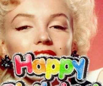 Fotomontagem para fazer seu próprio cartão de aniversário, você pode personalizar com uma foto. O modelo para esta fotomontagem, o texto é um aniversário, o colorido alegre, brilhante animada. Para desejar um feliz aniversário.