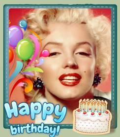 Cartão de aniversário livre customizável com uma foto.