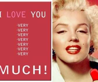 amor cartão customizavel com sua propria foto com o texto eu amo muito