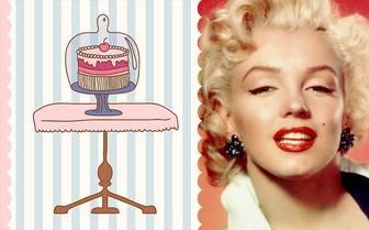 ECard de aniversário com o desenho de um bolo