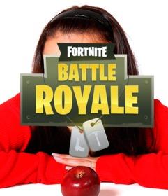 Logotipo do jogo Fortnite para colocar em sua foto