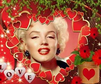 Cartão do amor com muitos corações e texto AMOR.