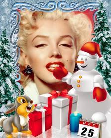 Fotomontagem dia de Natal para personalizar com foto.