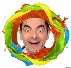 Quadro de um círculo de cores de pintura onde você pode adicionar sua foto