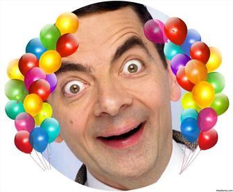 Balões coloridos para decorar suas fotos como um quadro e efeito Foto