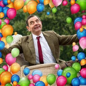 Quadro para cercar as suas fotos com muitos balões coloridos e decorá-lo