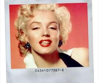 Estilo de quadro de imagem Polaroid com fundo branco.