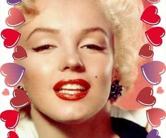 Photo frame de corações vermelhos e rosas para o Valentim onde você colocar a imagem com o seu amor.