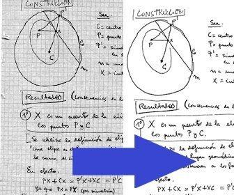 Efeito para otimizar notas digitalizadas melhorando o contraste e legibilidade.