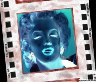 Efeito negativo para fotos. Inverte as cores e coloca sua foto no quadro de um negativo revelado.