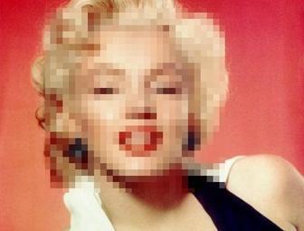 Esconde rostos em fotos on-line, foto de pixel.