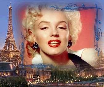 Moldura com fundo Paris, a cidade do amor para fazer com uma imagem.