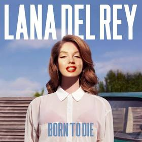 fotomontagem com capa do album born to die da cantora lana rey