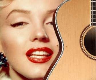 Fotomontagem para colocar a guitarra espanhola em uma foto e adicione o texto online.