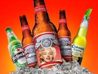 Fotomontagem para colocar sua foto em um rótulo de cerveja