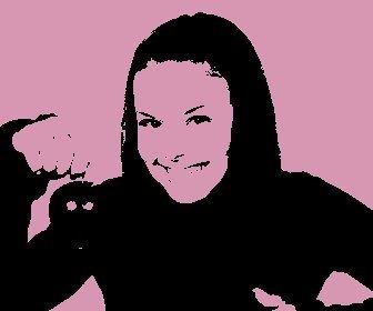 Pop Art colocar um efeito na sua foto, fundo rosa. Perfeito para fazer a sua foto do perfil.