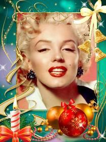 cartão com decoracões natal colocar sua foto