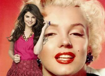 montar imagens postar uma foto ao longo da famosa atriz e cantora selena gomez