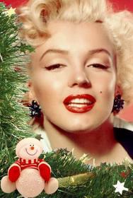 cartão natal com boneco neve e enfeites colocar sua foto